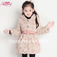 new 2013 autumn winter children outerwear baby clothing child jackets faux fur girls outerwear thick warm kids down & parkas