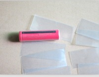 18650 Rechargeable Lithium Battery shell of PVC heat shrinkable tubes special skin transparent wholesale Fee shipping