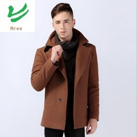 2XL/3XL/4XL Plus Size 2014 Winter Man's Wool & Cashmere Trench Autumn Man's Outwears Thick Overcoat Black/Coffee Trenches