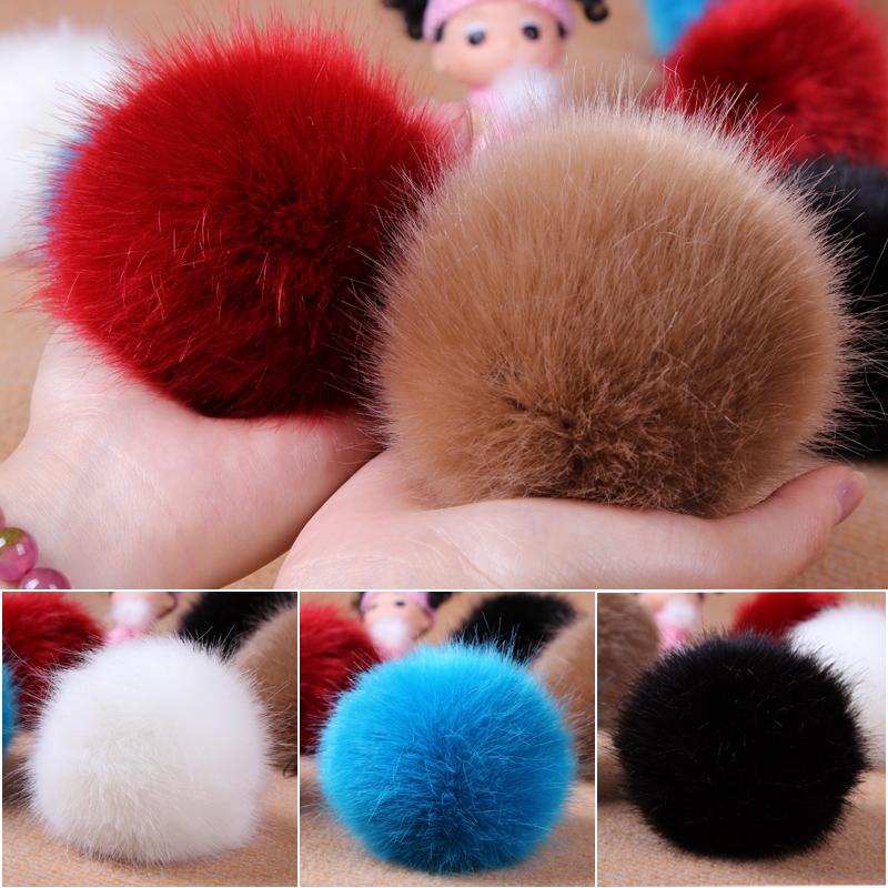 Hanna Cai Store Big size Faux fox ball 10cm hair ball mobile phone key wallet bag hangings handmade phone pendant(China (Mainland))