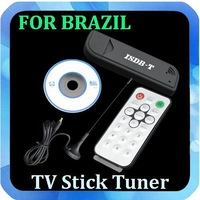 Free Shipping 1pc New Mini USB ISDB-T BRAZIL Free signal TV Stick Tuner HDTV Receiver for PC Laptop FOR BRAZIL