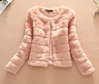 free shipping 2014 women faux fur rabbit hair lady warm Coat Jacket Fluffy Short winter faux conny hair Outwear overcoat