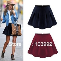 2014 Korean  new spring fashion wild sexy lady pleated velvet Mini skirt dress Puff,short skirts