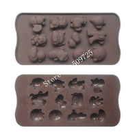 New Silicone Chocolate Mold Cake Jelly Candy Ice Cube Mould lovely Series