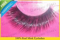 Free Shipping 3pcs/lot RMZ021 100% real siberian mink fur false eyelash mink lashes individual eyelash extension