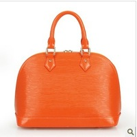 2013 candy color vintage genuine leather brief cowhide handbag shell bags women's handbag 0303 Large