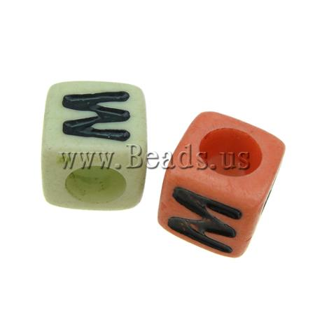 Free shipping!!!ABS Plastic Beads,ethnic, Cube, mixed colors, 7x7mm, Hole:Approx 4mm, 1700PCs/Bag, Sold By Bag(China (Mainland))
