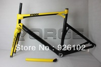 Yellow BMC IMPEC Di2 full carbon fiber road bike frame /seatpost/fork/headset/clamp/completed customized painting bicycle