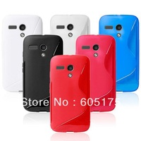 1000pcs Anti-skid S Line Soft TPU Gel Phone Cover Case for Motorola Moto G XT1032