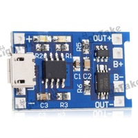 18650 Lithium Battery Charging Board Charge and Protection Dual Functions MP1405 Blue+Black