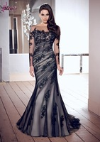 Ready to Ship $109 + Free Shipping in store Glamorous lace mermaid women Evening Dresses for sleeves Free shipping