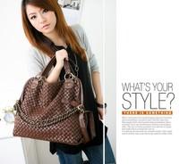 Free Shipping (1pcs)2013 Summer new Hand woven chain shoulder bag /Three ways women handbag Four colors BZ001