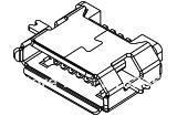Micro USB Receptacle Type B,Mid Mount, Horizontal,Bottom Mount,without  Locating Peg