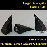 6pc Large Black Dragon Claw Spike Screwback Studs L-D28 + Free Shipping