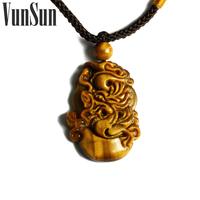 Vunsun natural crystal accessories tiger eye lucky evil 12 zodiac tiger eye pendant male Women