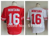 Free Shipping #16 Joe Montana Men's Elite Football Jersey ,Embroidery Logos American Football Jersey,Size M--3XL
