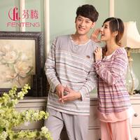 Lovers 100% cotton autumn and winter women's sleepwear long-sleeve 100% cotton sleepwear casual o-neck 8662 lounge