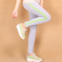 2014  spring and autumn women's sports wind two-thread legging women thin close-fitting elastic trousers