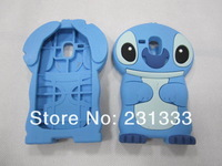 For Samsung Galaxy S3 Mini I8190 Stitch 3D Lilo & Stitch silicone cartoon cute gel rubber case lovely cases 1pcs free shipping