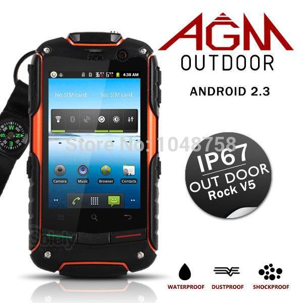 Cheapest!!!Original AGM ROCK V5 Waterproof Dustproof Shockproof Android 3G Mobile Phone Support GPS WIFI(China (Mainland))