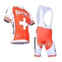 New bicycle clothing set ! 2014 bmc cycling jersey short sleeve and bicicleta bib shorts/ ropa ciclismo bicicletas !!