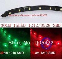 200pcs/lot 30cm 15 LED 1210 3528 SMD waterproof flexible led strip MC06F
