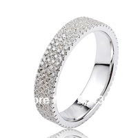 GNJ0476 New Promotion Full CZ finger ring Eternity wedding rings for women 1pc 925 sterling silver micro pave CZ Jewelry ring