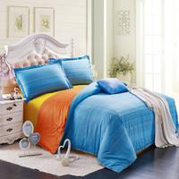 Destina 100% slanting home textile cotton colorful stripe piece set 100% cotton princess bedding duvet cover