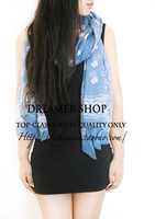 Scarf to Germany Fresh ! high quality national trend decorative pattern cashmere scarf blue cape thin  =JwD2