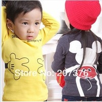 free shipping 2013 new children's clothing Hoodies t shirt baby girls boys kids sport t-shirts spring autumn clothes