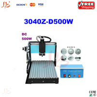 Free shipping! CNC 3040Z-D500 engraving machine,Engraving and Milling Machine, 500W spindle power with limit switch