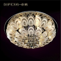 Pengs fashion crystal k9 ceiling light Diameter 800mm modern fashion brief lighting LED light source circle lamps