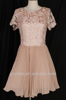 Free  shipping  crochet   chiffon  pleating  wedding  party  ladies dress ,extress  stock  with  good price