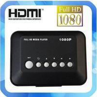 Full Hd 1080P Media Player USB/SD RMVB RM H.264 MKV AVI VOB with AV, YUV, HDMI port Mini Hdd player free shipping
