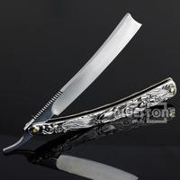 Vintage Aluminum Straight Edge Stainless Steel Shaper Barber Razor Folding Shaving Knife Free Shipping