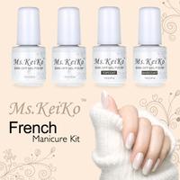 Gel Nail Polish French White Pink color 4PCS Shellac Gelishgel UV LED Soak Off 7ml