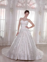 Wholesale - Fantastic White Satin Sweetheart Floor Length Celebrity Wedding Dresses evening dress #u6-q1s
