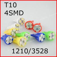 10pcs/lot 1.5W T10 4SMD 3528 Car LED Dashboard Light, backup lamp door lamp T10 194 168 192 W5W t10 led light