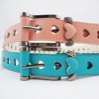 free shipping new style Fashion strap Women all-match cutout heart women's belt jeans belt candy color sweet decoration
