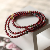 Red garnet bracelet women's natural crystal jewelry bracelets garnet tourmaline ring beads bracelet