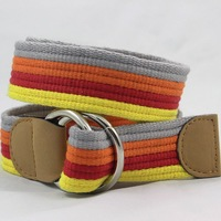 free shipping new style Casual canvas belt round color all-match waist of trousers belt cloth strap