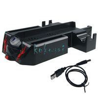 Vertical Stand Mount Holder with 2 Cooling Fan for Microsoft Xbox One Console Free Shipping