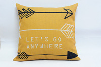Wholesale simple lines arrow pattern pillow cushions decorative pillows pillow cover sofa cushion free shipping