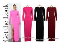 New 2014 Sexy women dress Ladies Long Sleeve Backless Slim Fit Bodycon Clubwear Dress Bandage Pencil party winter dress A20