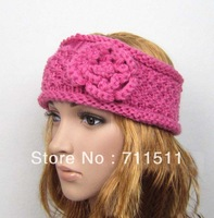 20 pieces / lot Double-deck Flower Women Crochet Headband Fashion Curly Rim Knitted Headwraps