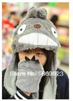 Winter My Neighbor Totoro Plush Hat Cap Gloves Ghibli Totoro Cosplay  Scarf, Hat & Glove Sets
