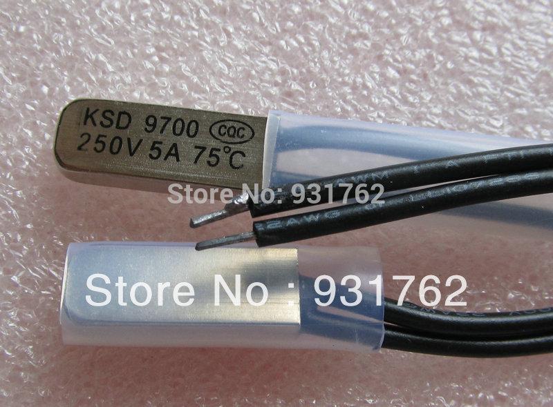 10 pcs KSD9700 75 Celsius 250V 5A Thermostat BiMetal Switch Temperature NC Normally Close 75 Degree(China (Mainland))