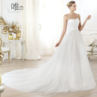 Bling bride tube top paillette big train gauze wedding dress new arrival 2013 puff skirt strap