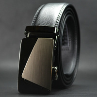 New Arrive New Fashion Man's Genuine Leather Belt Automatic Buckle Man Real Leather Belts No:QDF802 Free Shipping