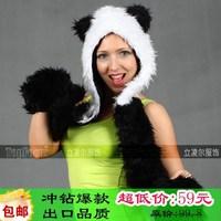 Fashion autumn and winter hat cartoon animal hat faux hats christmas hat cap giant panda hat